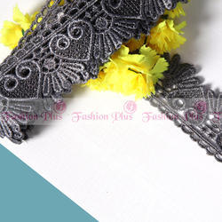 Latest Gray Zari Lace Design