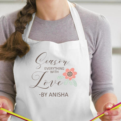 Personalized Apron For Her Printed Name