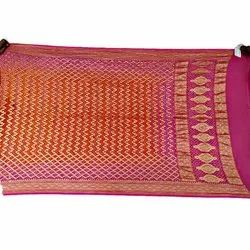 Pink and Orange Color Fancy Desion Bandhani Banarasi Georgette Dupatta