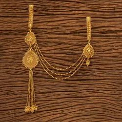 Women Gold Plated Classic Double Jhuda 200130, Size: Length = 9 Inch