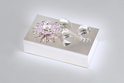 Silver Plated Jewellery Box with Crystal Sunflower