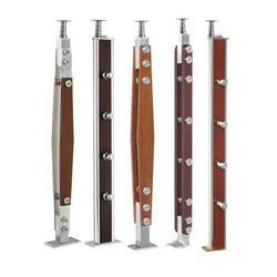 Wood Finish Steel Baluster