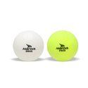 Mayor White & Flo Yellow Drag Plain Cork Hockey Ball