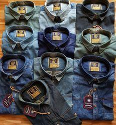 Men XL Denim Casual Shirt
