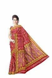 All Over Red Color Fancy Design  Banarasi Georgette Saree