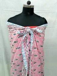 Block Printed Cotton Sarongs