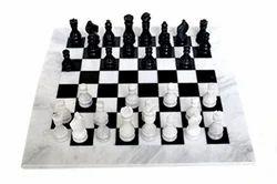 White Marble Chess Set