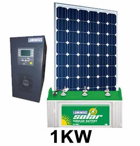 Off Grid Solar Power System 1 Kw 2 Kw 3 Kw 5 Kw For Residential Rs 75000 Unit Id 21402791173