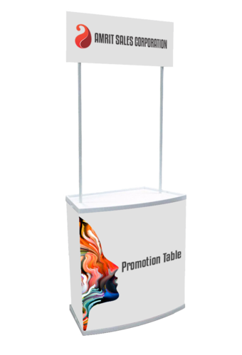 Pvc EXIBU ABS Promotion Display Table