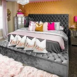 Nordiac Fusion Velvetine Puffed Quited Modern Bed