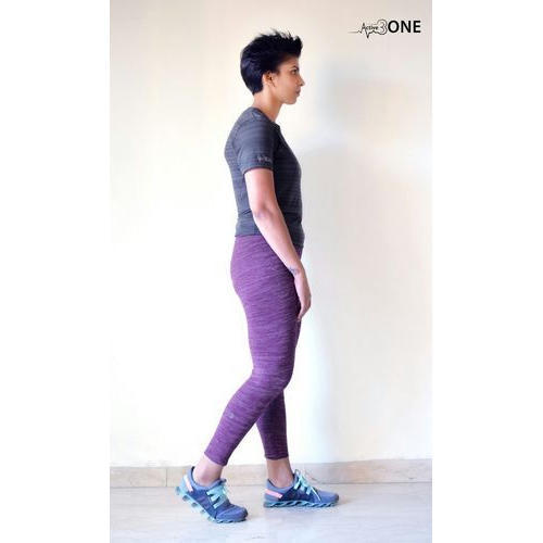 06d9f30192d61 Polyester Ladies Purple Sports Leggings, Rs 450 /piece, Dunkall | ID ...