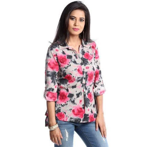 M And L Ladies Floral Printed Top