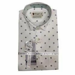 Fuel-9 Cotton Men Dot Printed Shirt, Size: M-XXL