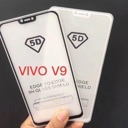 Vivo V9 5D Full Tempered Glass, Thickness: 0.3 Mm, Size: 6.0 Inch