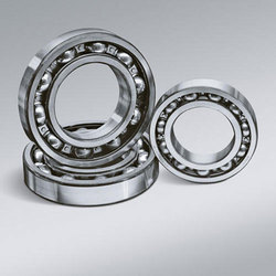 Silver Round Deep Groove Ball Bearing