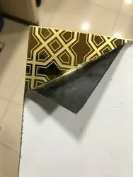 Gold Etch Designer Stainless Steel Sheet