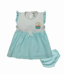 Baby Girl Half Sleeves Frock With Pant