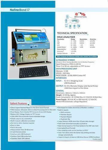 Nuline Bond i7 Milk Analyser ( SS 304 )