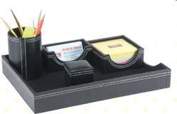 Black & Brown Desk Organizer