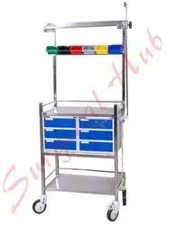 Stainless Steel Hospital Cart