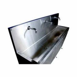 3 Bay Stainless Steel Scrub Sinks