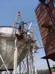 Zincalume Bolted Grain Storage Silo