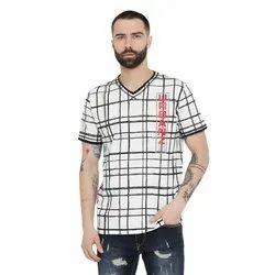 Cotton Boys Printed V-Neck T-Shirts