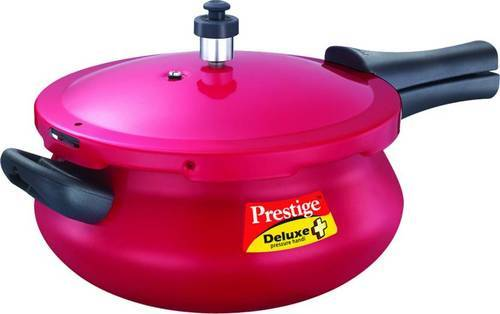 413d56a2bd0 Prestige Deluxe Plus Junior Handi Red 4.8 L Pressure Cooker With Induction  Bottom (Aluminium)