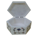 White Marble Jewelry Storage Box