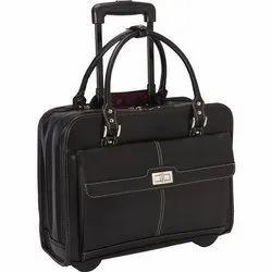 Black Leatherette Office Bag