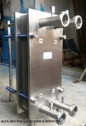 Automatic 500lph & 1000lph Stainless Steel Plate Type Heat Exchanger For Milk