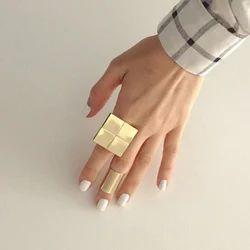 New Geometric Design Girls Christmas Gift Statement Rings for Women