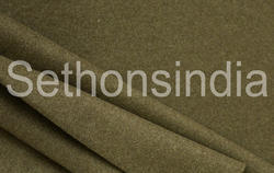 Sethsons India Green Barathea Fabric, Gsm: 165-300 Gsm
