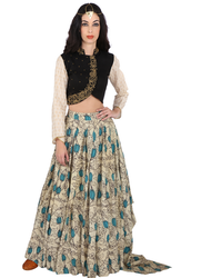 Black And White, Grey Printed Kalamkari Collection Ittar YNISK01 Ladies Dress