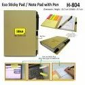 Eco Sticky Pad with Pen H-804