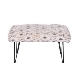Rug Upholstered Wooden Garden Bench