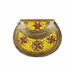 Yellow Metal Lakk Sling Bag