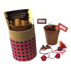BIOQ Seed Plantable Rakhi - Luxury Kit (Adult Rakhi & Lumba)