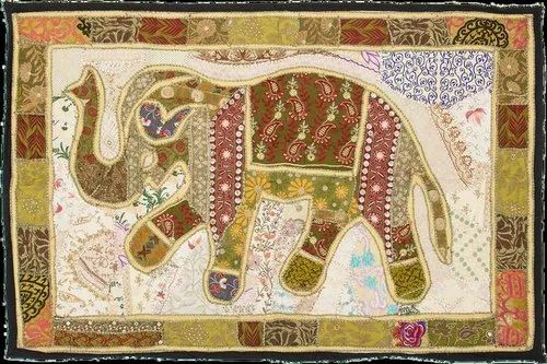 Hande made Vintage Elephent Wall Hanging, Size: 40*60inch