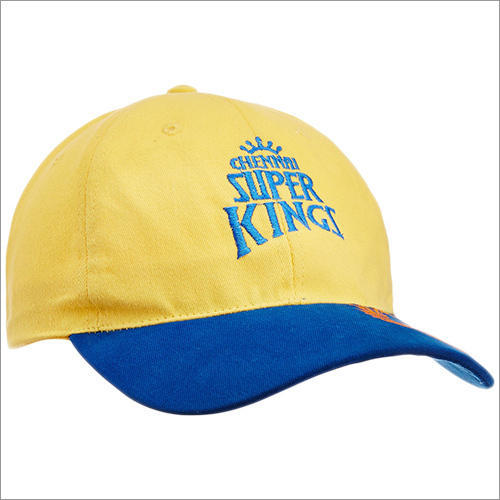 a225a13984e03 Yellow And Blue Promotional Cricket Caps