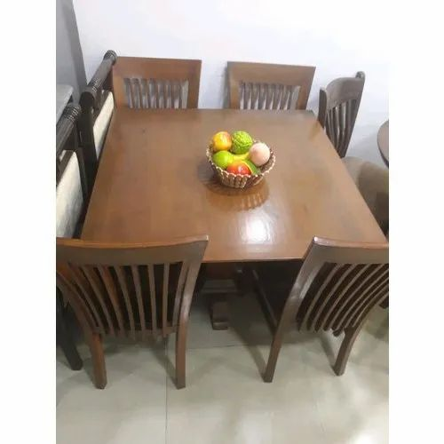 Wood 2 5 3 5 Ft Square Dining Table Set 4 Chair 1 Table Rs 35000 Set Id 20618489230