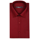 Solid Maroon Color Formal Shirt