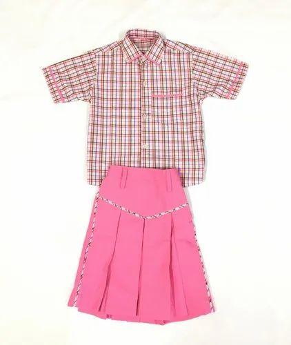 Pink Kids School Uniform