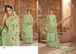 Nazakat By Shree Fabs Pure Dola Silk Embroidery Salwar Kameez