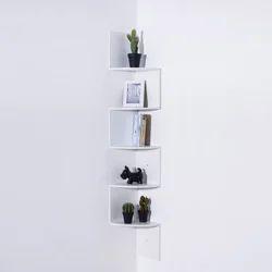 White Triangle Corner Shelf, For Home