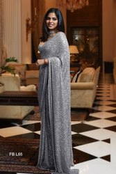 Festive Wear Embroidered Silk Sarees, 6 m (with blouse piece)