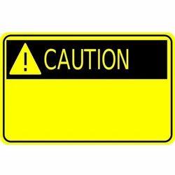 Rectangular Caution Safety Signage