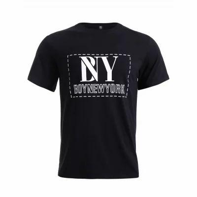 c117151e4 Boy New York Letter Printed Round Neck Short Sleeve T-Shirt for Men