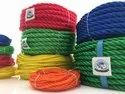 Yellow Twist Pp Hdpe Fish Net Ropes, Packaging Type: Roll