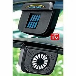 Solar Power Car Window Cool Air Vent With Rubber Stripping, Auto Cool (Black)
